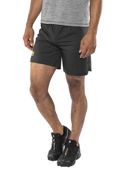 X-Bionic Aero Running Pants Short Men Black/Neon Yellow